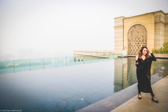 Roof Top Pool Picture Of The Leela Palace New Delhi New Delhi Tripadvisor