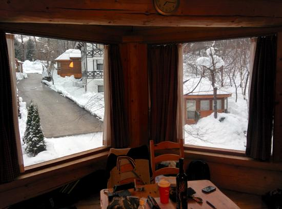 Hakuba Canadian Lodge: view from dinning