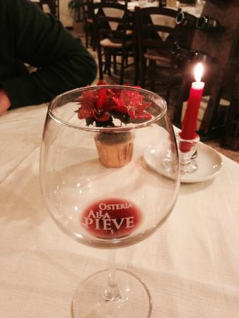 Osteria Alla Pieve: Cena al lume di candela