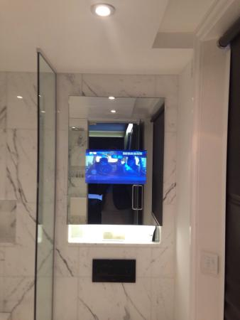 Eccleston Square Hotel Tv Inside Bathroom Mirror