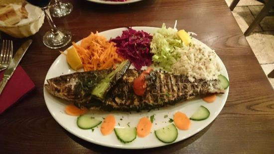 Nemrut: Charcoal grilled seabass