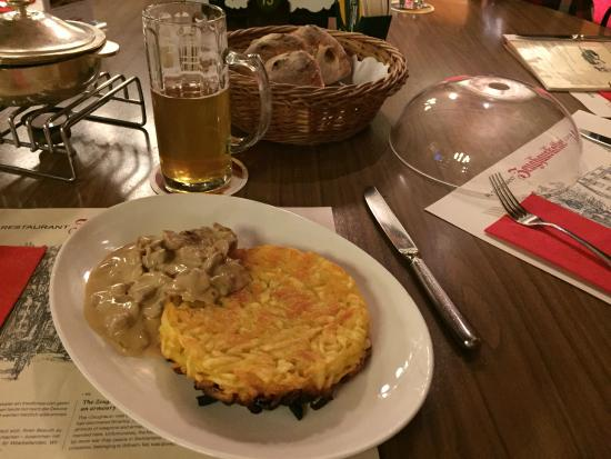 Traditional Swiss food - Picture of Zeughauskeller, Zurich ...