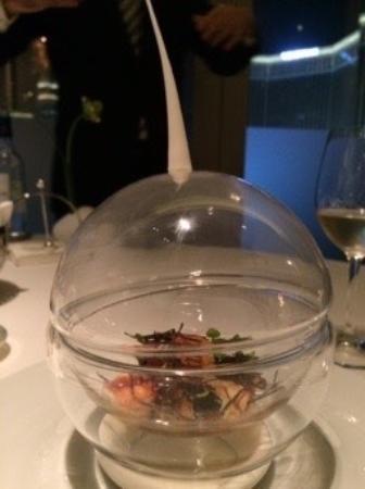 The Tasting Room: Lobster / foie gras appetiser
