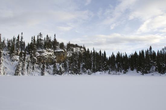 Kvitfjell Alpinanlegg: Taken while cross country skiing