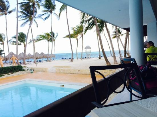 Melia Caribe Tropical All Inclusive Beach Golf Resort View From The Restaurant In