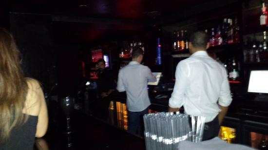 Behind the bar at Chinawhite/ Libertine