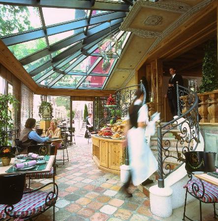 Hotel Zur Tenne Restaurant: Wintergarden