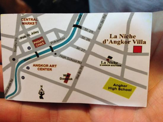 Business card back with map picture of la niche dangkor la niche dangkor boutique hotel business card back with map colourmoves