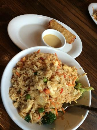 Chicken fried rice and egg roll picture of pei wei asian for Asian cuisine norman ok