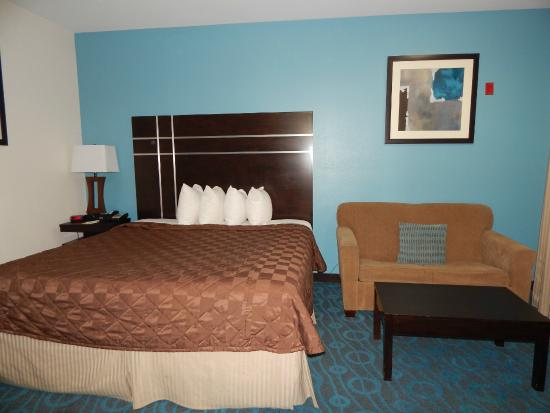 Days Inn and Suites Houston North/Aldine : King bed