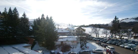 Hotel Polsa: La vista delle piste dalla camera