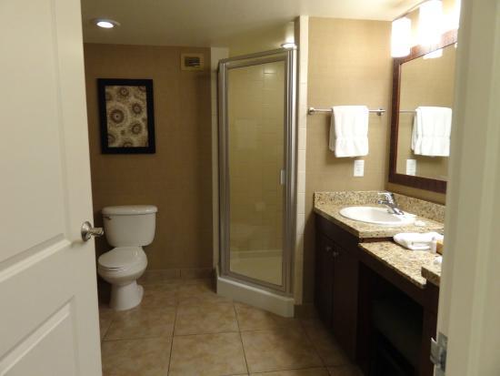 The Grandview At Las Vegas Bathroom Corner Shower 2 Sinks