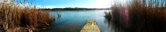 Pergusa, Italie : Panorama del lago