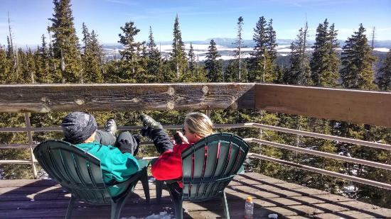 Sunrise Park Resort: Birds Eye View from Apache Peak Lodge