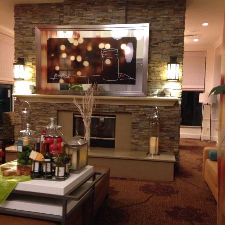 Hilton Garden Inn Tampa North: Lobby bem decorado