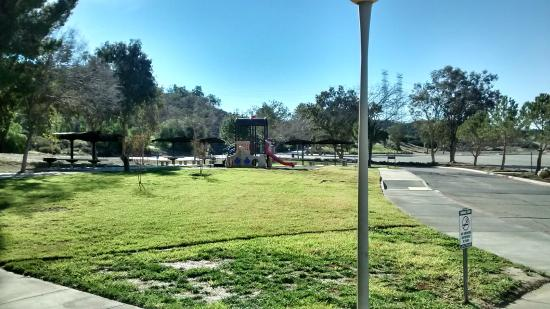 Castaic Lake: Play Area and Picnic Tables