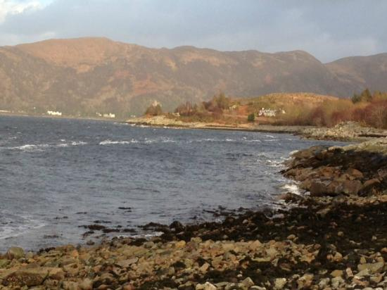 Loch Linnhe Waterfront Lodges: view from the balcony