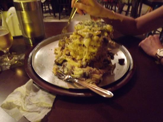 Lajeado, RS: Torre de batata frita entrevero