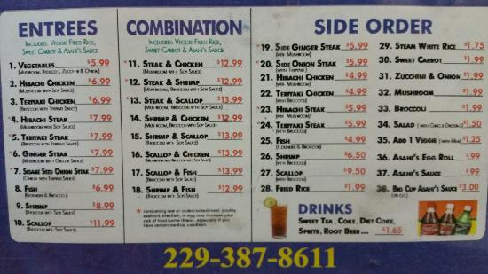 Tifton, Georgien: Menu