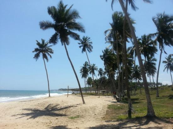 Gomoa Fetteh, Ghana: Beach - facing West