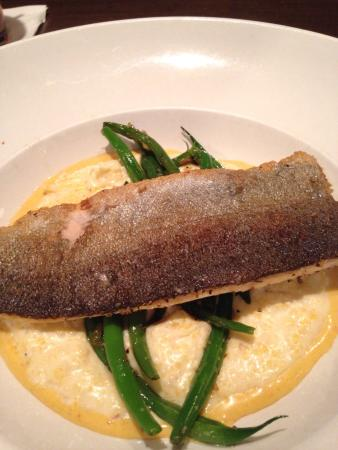 Table 100: Rainbow Trout with Cheesy Grits and Green Beans