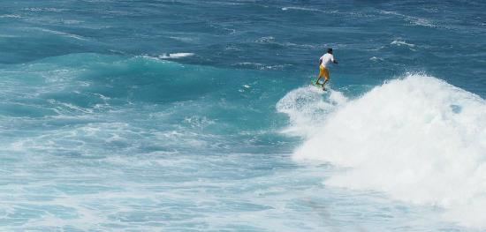 Paia, HI: Catching a wave