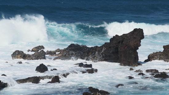Paia, HI: Rocks at lookout