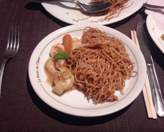 La Fleur de Chine : Fleur de Chine - Crevettes au curry & nouilles chinoises