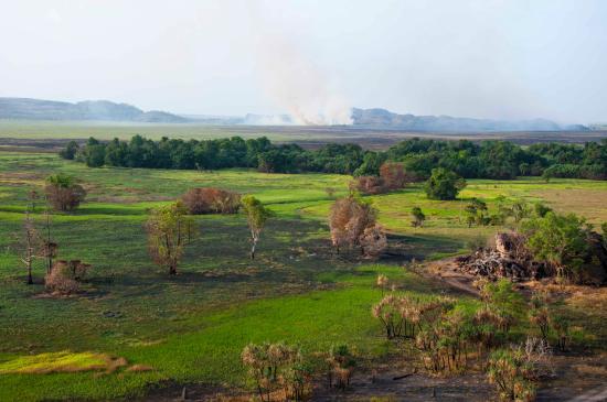 Jabiru, Australia: Distant fires