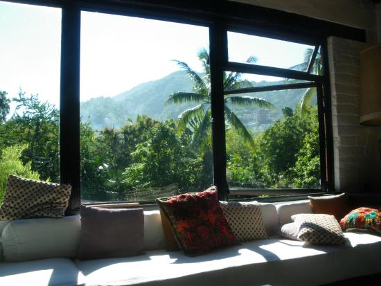 Casa Del Puente : view from the panaromic picture windows.