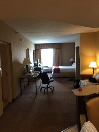 Holiday Inn Express Hotel & Suites Tampa Northwest - Oldsmar: main suite with King, sofabed and kitchenette