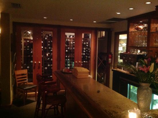Tina's: section of inside of Tina around the decorative bar