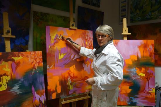 La Vercorelle : Atelier d'Isabelle, hôtesse et artiste peintre