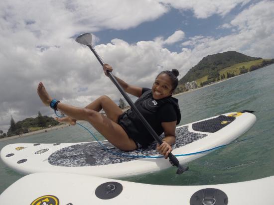 Hibiscus Surf School : Acting crazy  but lovin it.