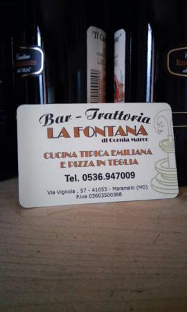 Bar Trattoria La Fontana