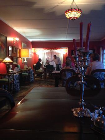 Springfontein Guesthouse: Delicious, cadle-lit dinner.