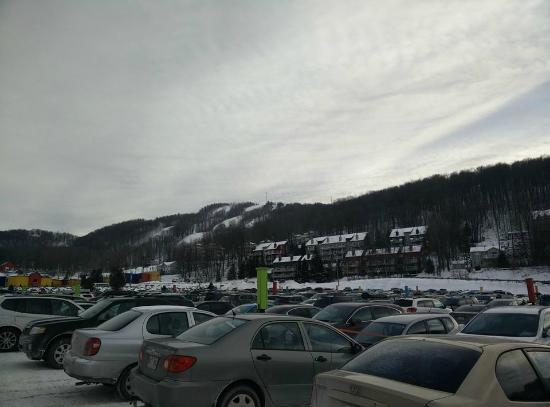 Bromont Ski Area: First view of bromont.
