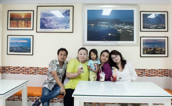 At Phuket Inn: With hotel owner Ann