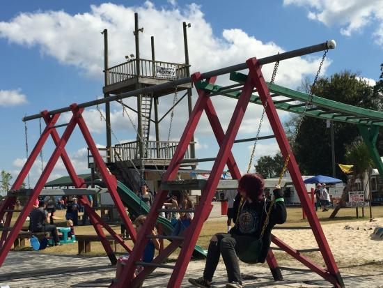 Long & Scott Farms: The kids enjoyed the playground areas