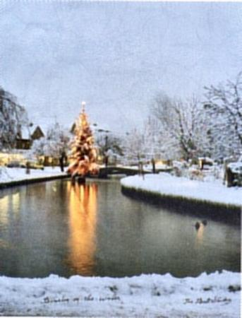 Little Rissington, UK: Christmas in Bourton.