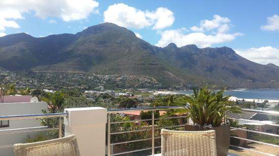 Hout Bay View: View of the beach from the terrace.