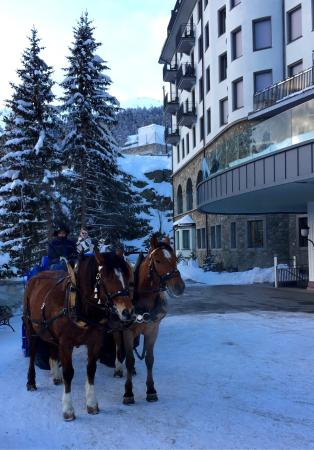 Carlton Hotel St. Moritz : Out front of the Carlton Hotel