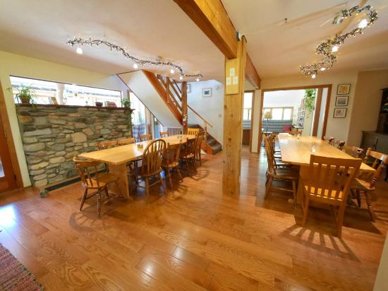 North Cascades Basecamp: dining area where Basecamp garden and local meals are served daily