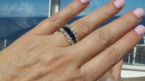 Imperial Jewelers: Diamond & sapphire ring.