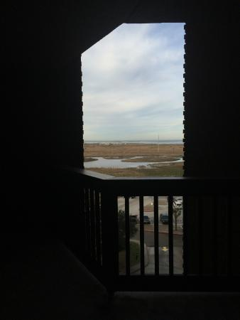 Sandpiper Condominiums : looking out towards main street from bedrooms