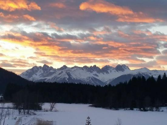Hotel Seespitz-Zeit: Sunrise View from Our Room