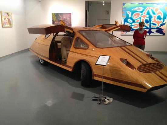 Wood Car Art : They called this one the splinter car yes made of wood