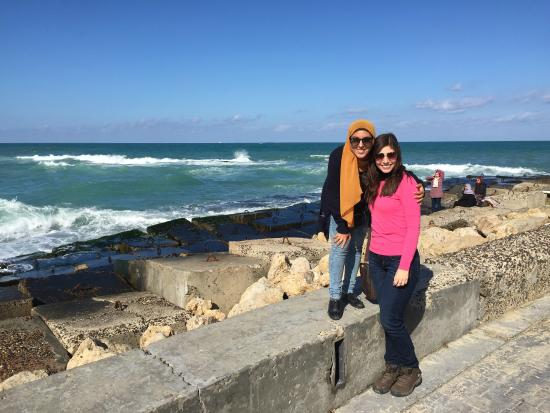 Habibitours - Day Tours: Samar, our Spanish tour guide, and me, in Alexandria..
