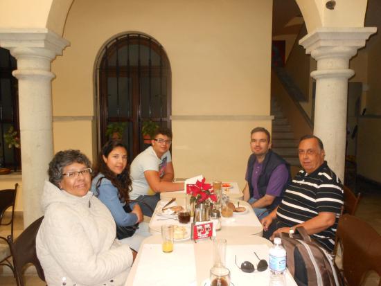 Casona Oaxaca: En el restaurant del hotel