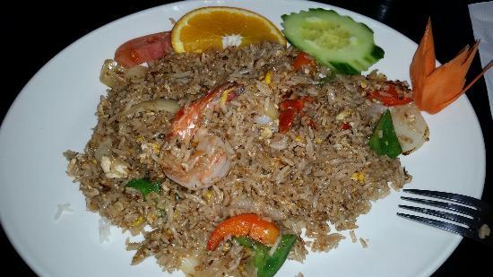 Thai House Cuisine : Basil Shrimp Fried Rice